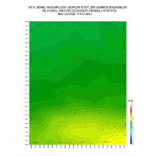 M 44 paftası 1/100.000 ölçekli Rejyonal Gravite (Bouguer Anomali) Haritası