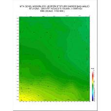 M 45 paftası 1/100.000 ölçekli Rejyonal Gravite (Bouguer Anomali) Haritası