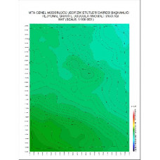 M 47 paftası 1/100.000 ölçekli Rejyonal Gravite (Bouguer Anomali) Haritası