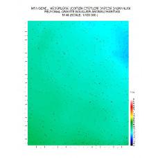 M 48 paftası 1/100.000 ölçekli Rejyonal Gravite (Bouguer Anomali) Haritası