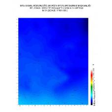 M 51 paftası 1/100.000 ölçekli Rejyonal Gravite (Bouguer Anomali) Haritası