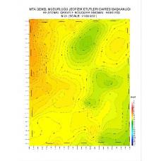 N 21 paftası 1/100.000 ölçekli Rejyonal Gravite (Bouguer Anomali) Haritası