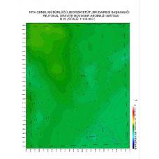 N 23 paftası 1/100.000 ölçekli Rejyonal Gravite (Bouguer Anomali) Haritası
