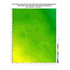 N 27 paftası 1/100.000 ölçekli Rejyonal Gravite (Bouguer Anomali) Haritası