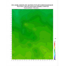 N 28 paftası 1/100.000 ölçekli Rejyonal Gravite (Bouguer Anomali) Haritası