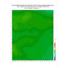 N 31 paftası 1/100.000 ölçekli Rejyonal Gravite (Bouguer Anomali) Haritası
