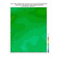 N 32 paftası 1/100.000 ölçekli Rejyonal Gravite (Bouguer Anomali) Haritası