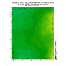 N 34 paftası 1/100.000 ölçekli Rejyonal Gravite (Bouguer Anomali) Haritası