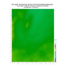 N 38 paftası 1/100.000 ölçekli Rejyonal Gravite (Bouguer Anomali) Haritası