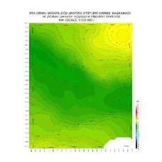 N 44 paftası 1/100.000 ölçekli Rejyonal Gravite (Bouguer Anomali) Haritası