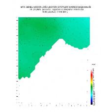 N 49 paftası 1/100.000 ölçekli Rejyonal Gravite (Bouguer Anomali) Haritası