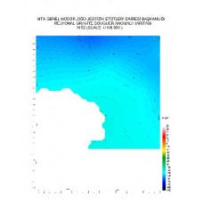N 52 paftası 1/100.000 ölçekli Rejyonal Gravite (Bouguer Anomali) Haritası