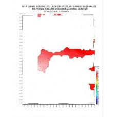 O 19 paftası 1/100.000 ölçekli Rejyonal Gravite (Bouguer Anomali) Haritası