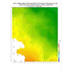 O 22 paftası 1/100.000 ölçekli Rejyonal Gravite (Bouguer Anomali) Haritası