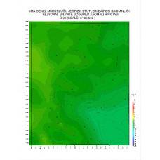 O 30 paftası 1/100.000 ölçekli Rejyonal Gravite (Bouguer Anomali) Haritası