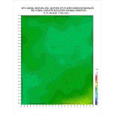 O 31 paftası 1/100.000 ölçekli Rejyonal Gravite (Bouguer Anomali) Haritası