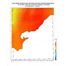 O 35 paftası 1/100.000 ölçekli Rejyonal Gravite (Bouguer Anomali) Haritası
