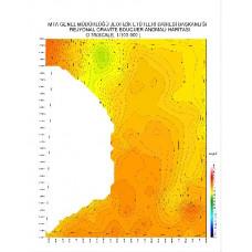 O 36 paftası 1/100.000 ölçekli Rejyonal Gravite (Bouguer Anomali) Haritası