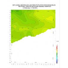 O 39 paftası 1/100.000 ölçekli Rejyonal Gravite (Bouguer Anomali) Haritası