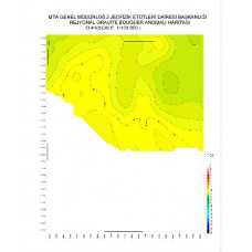 O 41 paftası 1/100.000 ölçekli Rejyonal Gravite (Bouguer Anomali) Haritası
