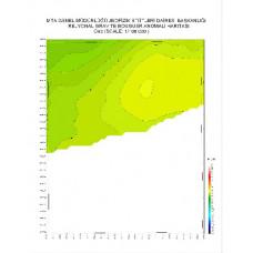 O 43 paftası 1/100.000 ölçekli Rejyonal Gravite (Bouguer Anomali) Haritası