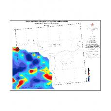 KARS paftası 1/500.000 ölçekli Havadan Rejyonal Manyetik Haritası