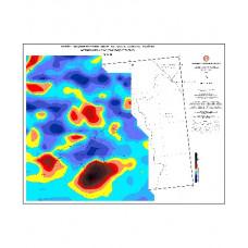 VAN paftası 1/500.000 ölçekli Havadan Rejyonal Manyetik Haritası