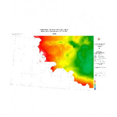 DENİZLİ paftası 1/500.000 ölçekli Rejyonal Gravite (Bouguer Anomali) Haritası