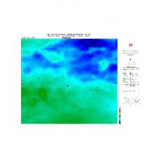 ERZURUM paftası 1/500.000 ölçekli Rejyonal Gravite (Bouguer Anomali) Haritası