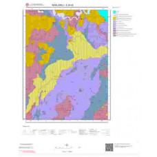 E20d4 Paftası 1/25.000 Ölçekli Vektör Jeoloji Haritası