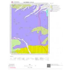 E31d3 Paftası 1/25.000 Ölçekli Vektör Jeoloji Haritası