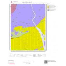 E32d4 Paftası 1/25.000 Ölçekli Vektör Jeoloji Haritası