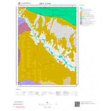 E33d3 Paftası 1/25.000 Ölçekli Vektör Jeoloji Haritası