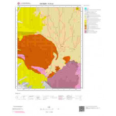 K33b4 Paftası 1/25.000 Ölçekli Vektör Jeoloji Haritası