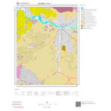 K33c1 Paftası 1/25.000 Ölçekli Vektör Jeoloji Haritası