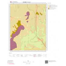 K34a1 Paftası 1/25.000 Ölçekli Vektör Jeoloji Haritası