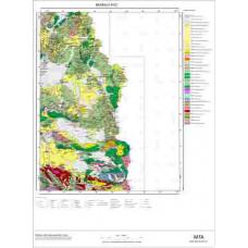 K 52 Paftası 1/100.000 ölçekli Jeoloji Haritası