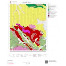 K52d4 Paftası 1/25.000 Ölçekli Vektör Jeoloji Haritası