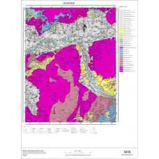 M 20 Paftası 1/100.000 ölçekli Jeoloji Haritası
