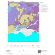 N19c3 Paftası 1/25.000 Ölçekli Vektör Jeoloji Haritası