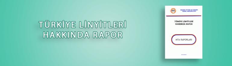 Türkiye Linyitleri Hakkında Rapor